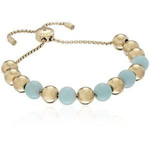 Michael Kors MK Gold Mint Beaded Quartz Bracelet